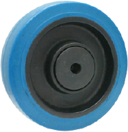 Blue Resilient Rubber Wheel